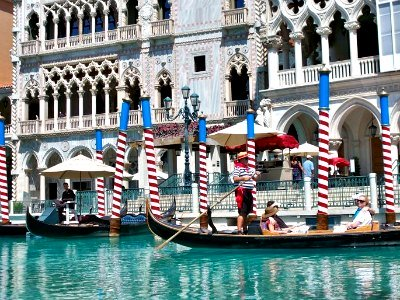 Gondola Rides at the Venetian Hotel in Las Vegas