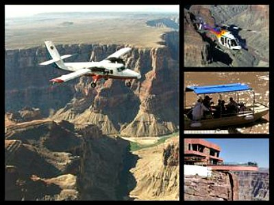 Grand Canyon flight tours From Las Vegas To West Rim with Helicopter and Boat