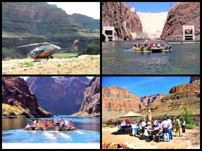 helicopter rides over Grand Canyon With Colorado River Rafting