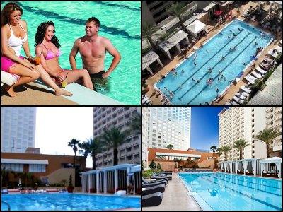 Pools at Harrah's Hotel in Las Vegas
