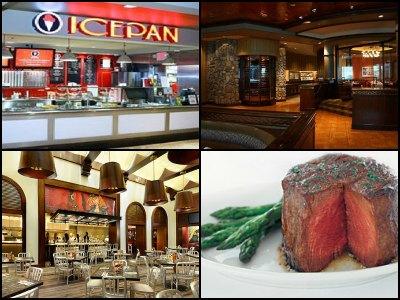 Restaurants at Harrah's Hotel in Las Vegas