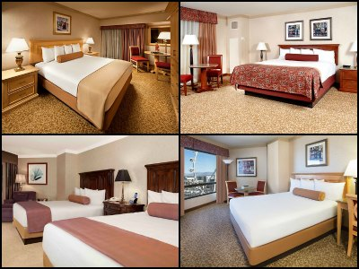 Rooms at Harrah's Hotel in Las Vegas