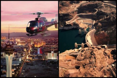 Hoover Dam and Las Vegas Strip twighlight helicopter tour