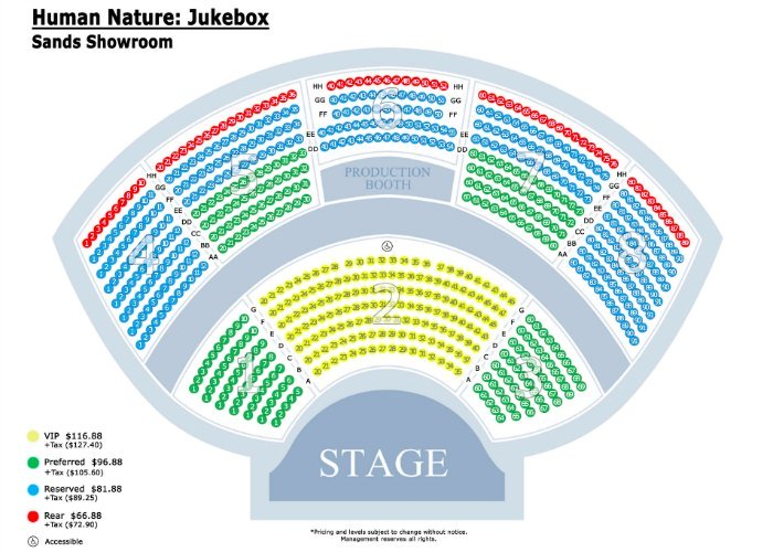 Human Nature seating chart
