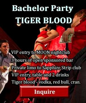las vegas bachelor party packages - Tiger Blood