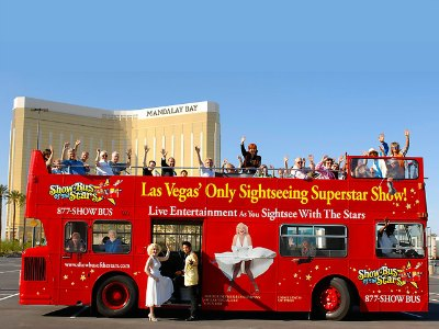 Double-Decker Bus of the Stars Las Vegas sightseeing tour