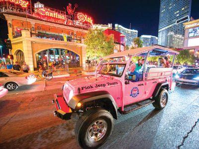 Las Vegas City Lights Night Tour by Open Air Jeep