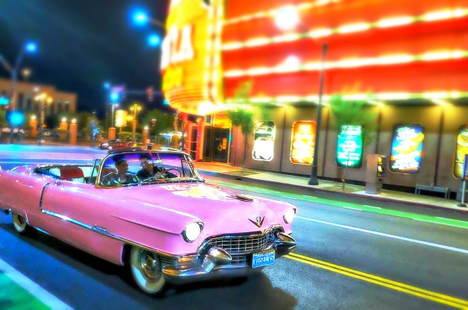 Las Vegas Night Tour with Elvis in Pink Cadillac Convertible