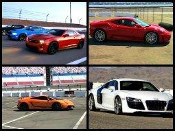 Yellow Lamborghini - exotic car driving experience in Las Vegas