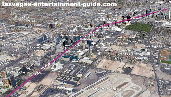 Las Vegas Strip Hotels Map