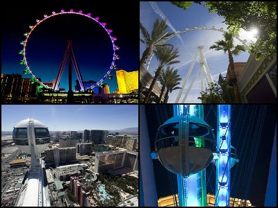 The High Roller Observation Wheel at the LINQ Hotel in Las Vegas