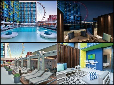 Pools at the LINQ Hotel in Las Vegas