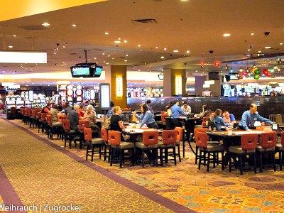 Casino at the Luxor Hotel in Las Vegas