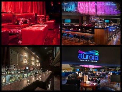 Nightlife at the Luxor Hotel in Las Vegas