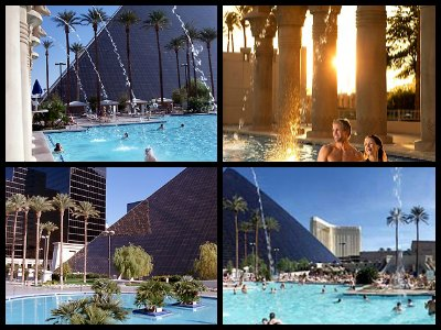 Pools at the Luxor Hotel in Las Vegas