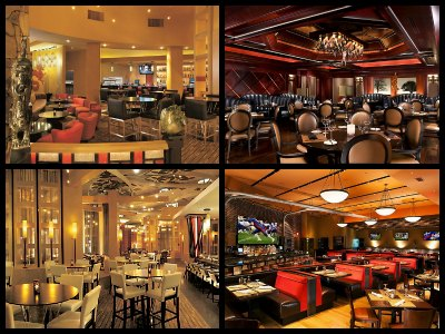 Restaurants at the Luxor Hotel in Las Vegas