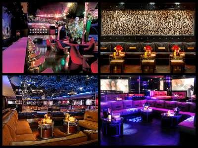 Nightlife at the Mirage Hotel in Las Vegas