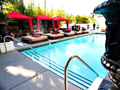 Las Vegas Naked Pool at Artisan Hotel boutique