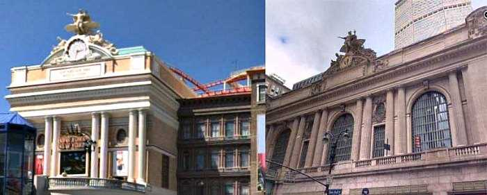 New York New York hotel in Las Vegas vs. NYC - the Grand Central Terminal