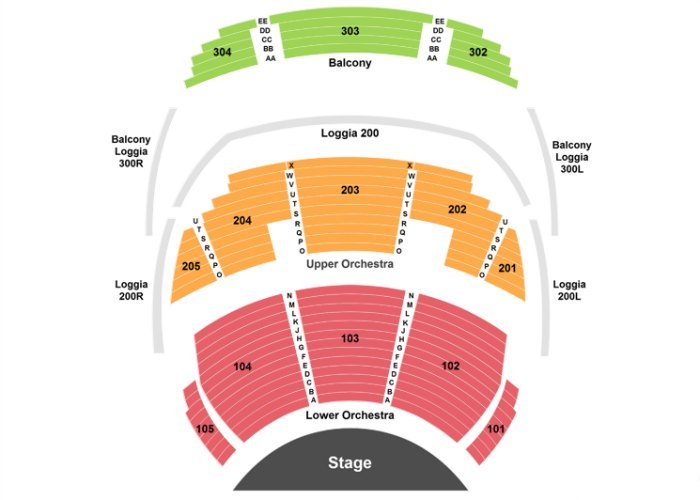O by Cirque du Soleil Seating Chart