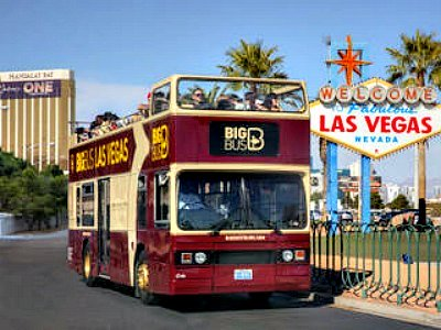 Open top Las Vegas bus tour