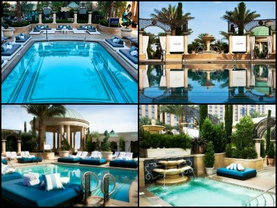 Pools at the Palazzo Hotel in Las Vegas