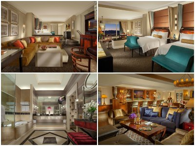Rooms at the Palazzo Hotel in Las Vegas