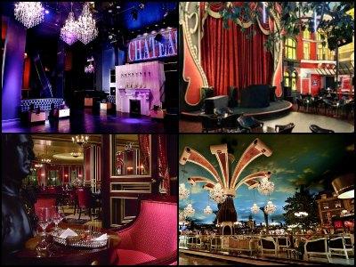Nightlife at the Paris Hotel in Las Vegas