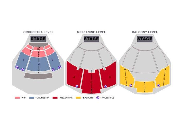 Penn and Teller Seating Chart