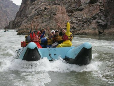 People rafting in Grand Canyon