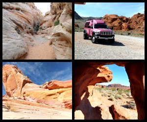 Pink Jeep tours Las Vegas Valley of Fire