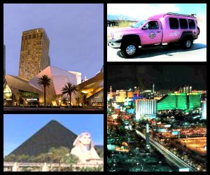 Pink Jeep tours Las Vegas strip