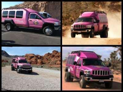 Pink Jeep tours in Las Vegas