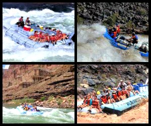 Rafting down the Colordao River in Grand Canyon
