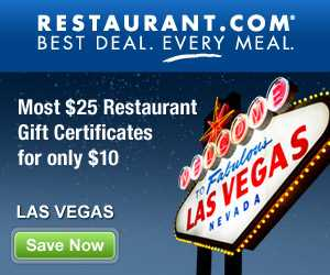 Discount coupons restaurants las vegas strip