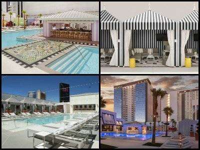 Pools at SLS Hotel in Las Vegas