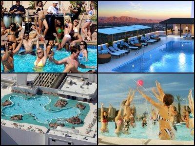 Pools in Stratosphere Hotel in Las Vegas