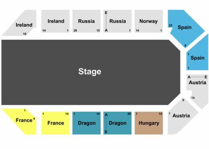 Tournament of Kings Seating Chart Las Vegas