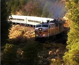 Train running to the Grand Canyon from Las Vegas