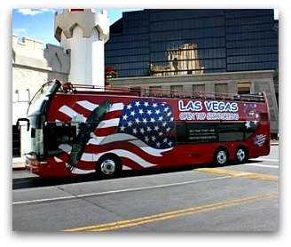 Real London doubledecker sightseeing bus in Las Vegas